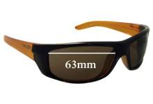 Sunglass Fix New Replacement Lenses for Arnette Boneyard AN4165 - 63mm Wide