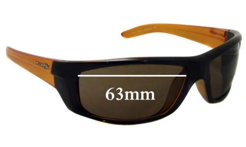 Sunglass Fix Replacement Lenses for Arnette AN4165 Boneyard Replacement Sunglass Lenses- 63mm wide