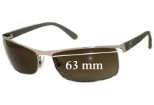 Calvin Klein 1079S Replacement Sunglass Lenses - 63mm wide