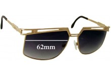 Cazel Unknown Vintage Model Replacement Sunglass Lenses - 62mm wide