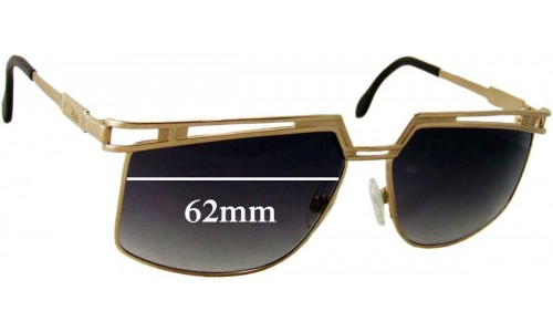 Cazel Unknown Vintage Model Replacement Sunglass Lenses - 62mm wide
