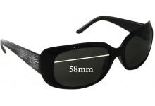 Chanel 6026-B Replacement Sunglass Lenses - 58mm wide