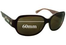 Coach Cassandra Replacement Sunglass Lenses - 60mm wide