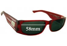 Crown Eddie G Replacement Sunglass Lenses - 58mm wide lens