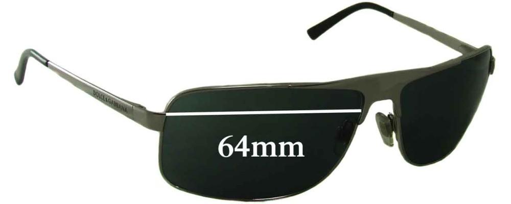 Dolce & Gabbana DG2022 Replacement Sunglass Lenses 64mm wide