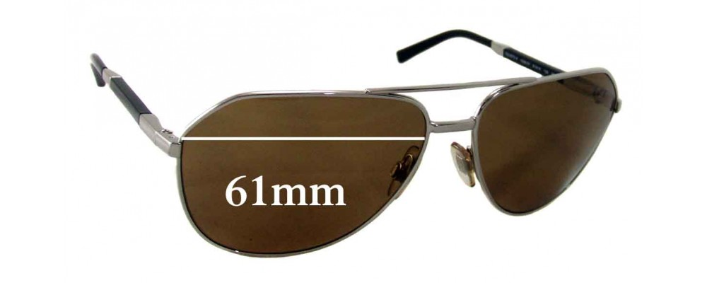 Dolce & Gabbana DG2073 Replacement Sunglass Lenses - 61mm wide