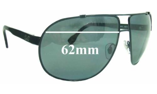 Dolce & Gabbana DG6070 Replacement Sunglass Lenses- 62mm Wide