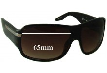55 BY Diesel Takani Replacement Sunglass Lenses - 65mm wide