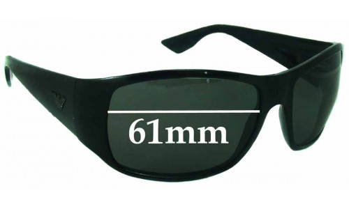 EMPORIO ARMANI 9666-S Replacement Sunglass Lenses - 61mm Wide