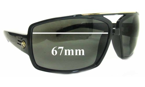 Sunglass Fix Replacement Lenses for Electric OHM III - 67mm Wide