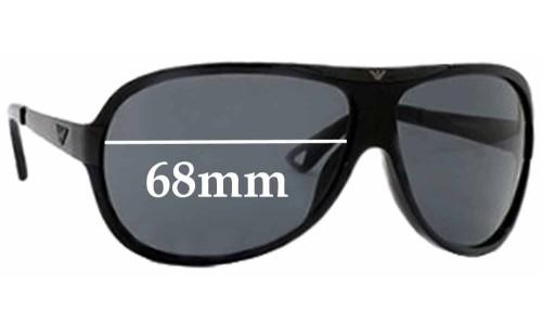 Emporio Armani EA9361 Replacement Sunglass Lenses - 68mm Wide