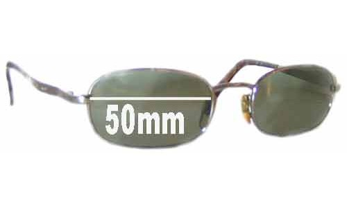 Giorgio Armani GA 671 976 Replacement Sunglass Lenses - 50mm wide