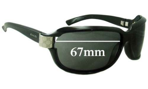 Gucci 2984 N/S Replacement Sunglass Lenses - 67mm wide
