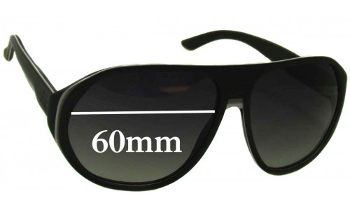 Gucci GG 1025 Replacement Sunglass Lenses - 60mm wide