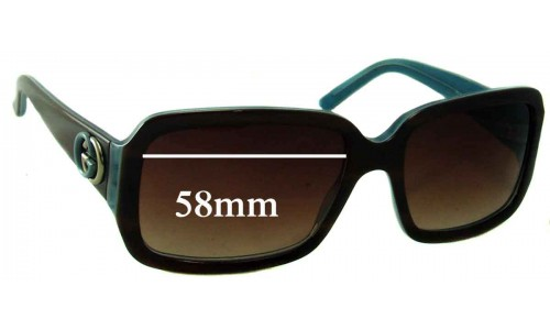 Gucci GG 3159/S Replacement Sunglass Lenses - 58mm wide