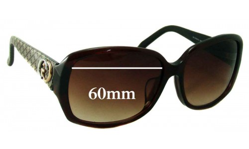 Gucci GG3178 K/S Replacement Sunglass Lenses - 60mm wide