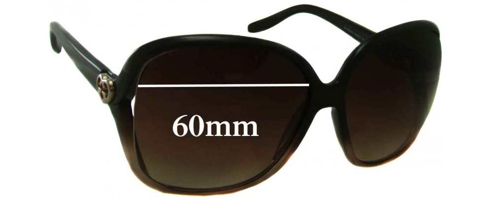 fe950c92953 Gucci GG 3500 S Replacement Sunglass Lenses - 60mm wide