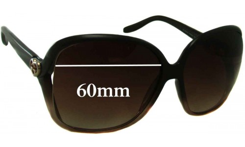 Sunglass Fix Replacement Lenses for Gucci GG 3500 S - 60mm wide