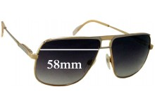 Gucci Unknown Vintage Model Replacement Sunglass Lenses - 58mm wide