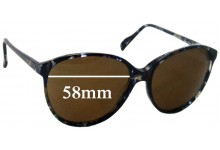 Haute Couture 3613-8 Replacement Sunglass Lenses - 58mm wide