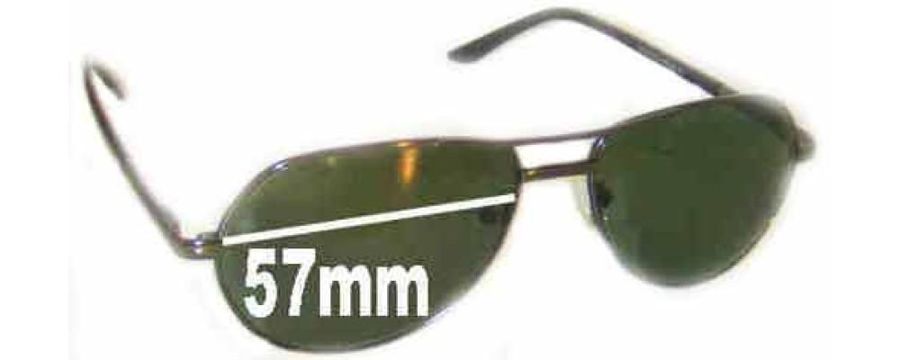 LTEDE LT1010 Replacement Sunglass Lenses - 57mm Wide