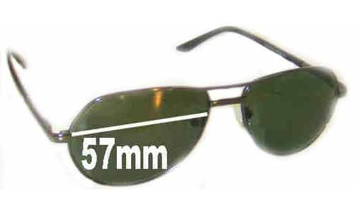 LTEDE LT1010 Replacement Sunglass Lenses - 57mm Wide