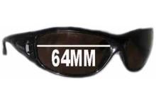 Mako Safari 9413 Replacement Sunglass Lenses - 64mm Wide