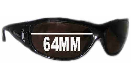 Mako Safari 9413 Replacement Sunglass Lenses - 64mm Wide