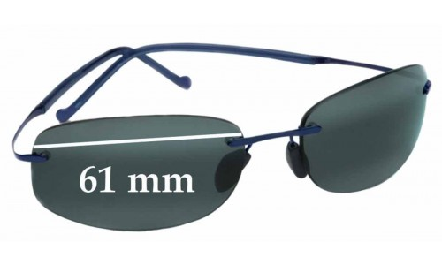 Maui Jim Honolua Bay MJ-516 New Sunglass Lenses - 61mm Wide