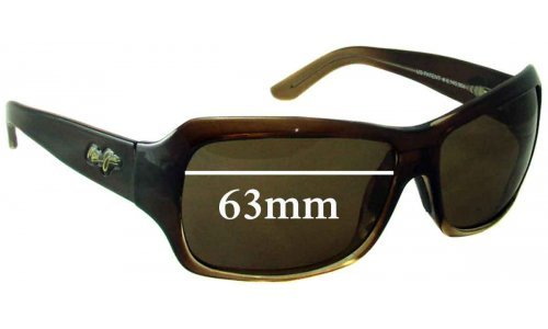 Sunglass Fix Replacement Lenses for Maui Jim MJ111 Palms - 63mm Wide