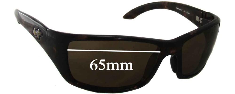 Maui Jim Canoe MJ208 Replacement Sunglass Lenses - 65mm Wide