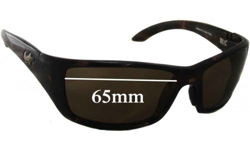 Maui Jim Canoe MJ208 Replacement Sunglass Lenses - 65mm Wide