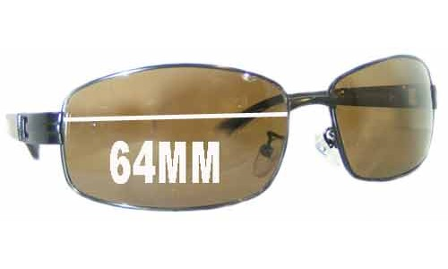 OSK 8155 Replacement Sunglass Lenses - 64mm Wide