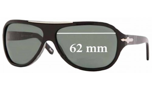 Persol 2890-S Replacement Sunglass Lenses - 62mm Wide