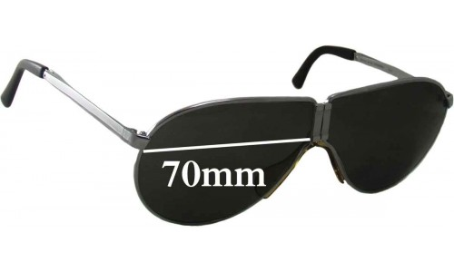 Carrera Porsche Design 5622 Replacement Sunglass Lenses - 70mm Wide- Sorry - We can Not Produce