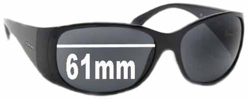 Prada SPR07G Replacement Sunglass Lenses - 61mm lens