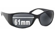 Prada SPR07G Replacement Sunglass Lenses - 61mm lens