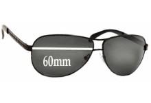 Prada SPR56I Replacement Sunglass Lenses - 60mm wide