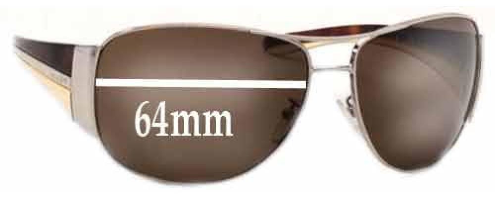 Prada SPR75G Replacement Sunglass Lenses - 64mm wide lens