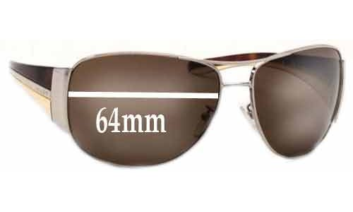 Prada SPR75G Replacement Sunglass Lenses - 64mm wide lens