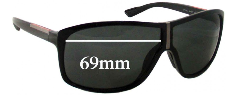 Prada SPS08L Replacement Sunglass Lenses - 69mm wide