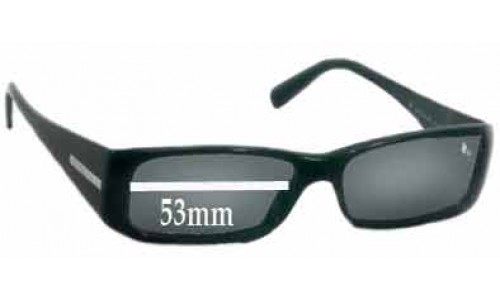 Prada VPR03G Replacement Sunglass Lenses -53mm wide