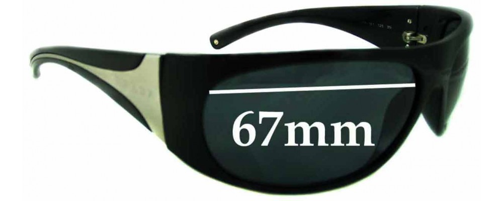 Prada AB1A1 Replacement Sunglass Lenses - 67MM across