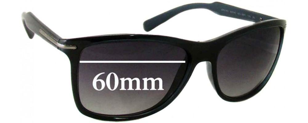 Prada SPR 10O Replacement Sunglass Lenses - 60mm Wide