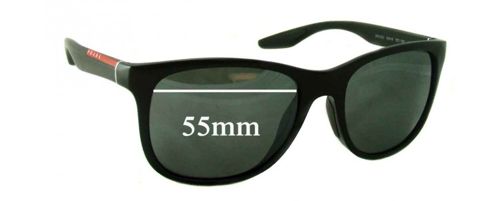 f91f4d9277 Prada SPS 03O Replacement Lenses 55mm by The Sunglass Fix®