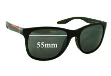 Prada SPS 03O Replacement Sunglass Lenses - 55mm wide