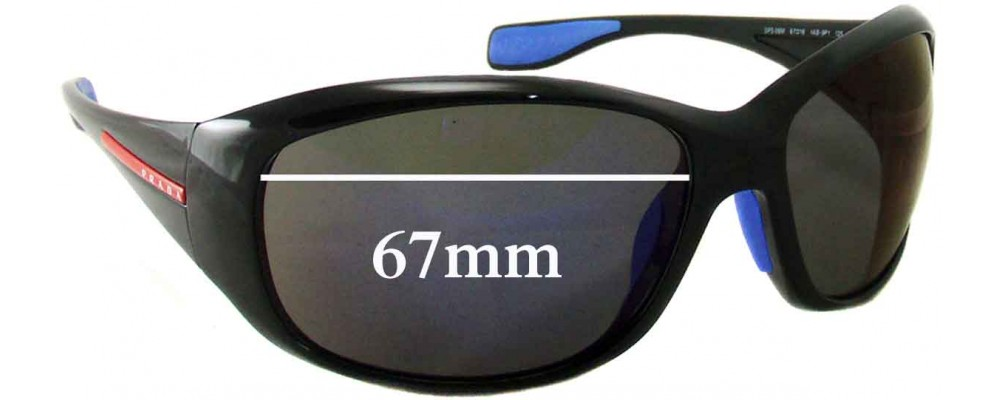 Prada SPS 06M Replacement Sunglass Lenses - 67mm Wide