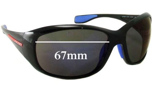 Prada SPS 06M Replacement Sunglass Lenses - 67mm Wide