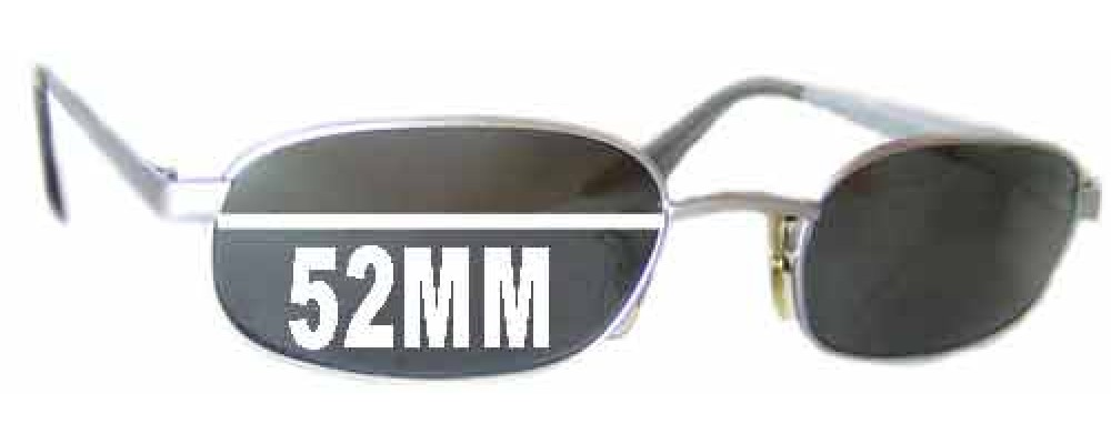 Sunglass Fix Replacement Lenses for Ray Ban W2321 - 52mm across