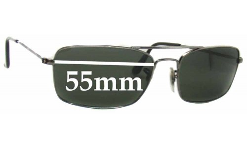 Ray Ban Replacement Sunglass Lenses RB3309 55mm